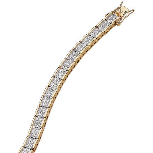 1/4 Carat T.W. Diamond Two-Tone Glamour Tennis Bracelet