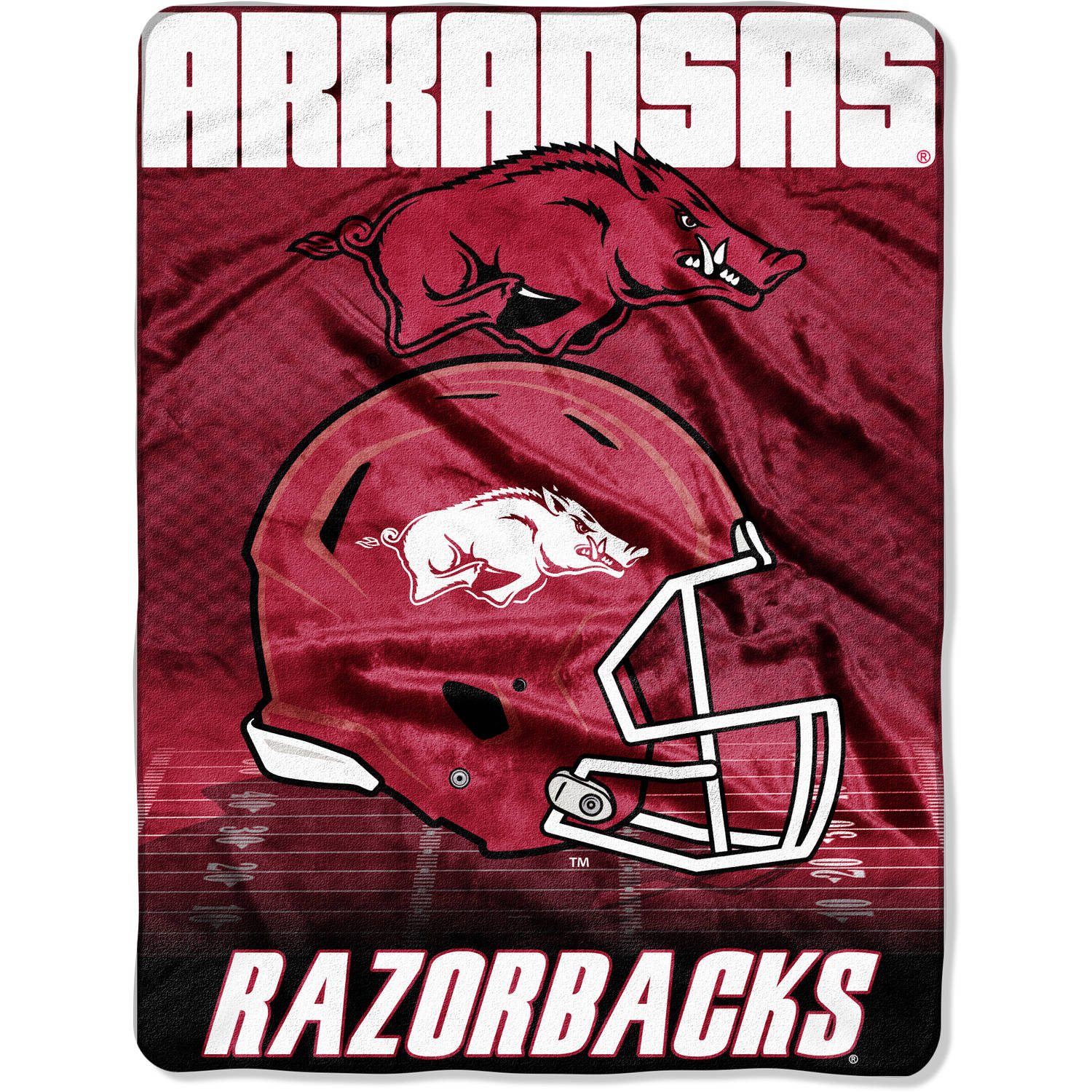 "NCAA Arkansas Razorbacks 60"" x 80"" Oversized Micro Raschel Throw"