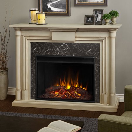 Maxwell Grand Electric Fireplace in Whitewash by Real Flame