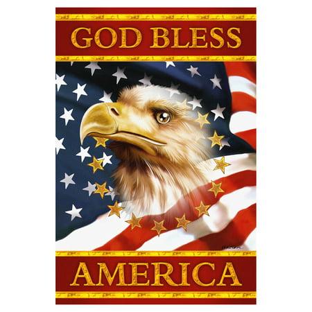 - Toland Home Garden God Bless America Flag