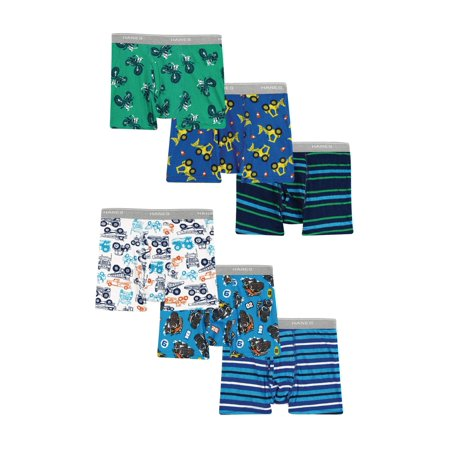Hanes Toddler Boys' Tagless Boxer Briefs, 6-Pack