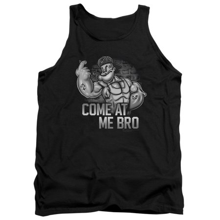 Popeye The Sailor Man Cartoon Harcore Gangster Come At Me Bro Adult Tank Shirt