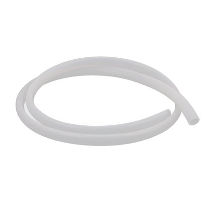 8mm x 10mm Beige Silicone Tube Water Air Pump Hose Pipe 1M