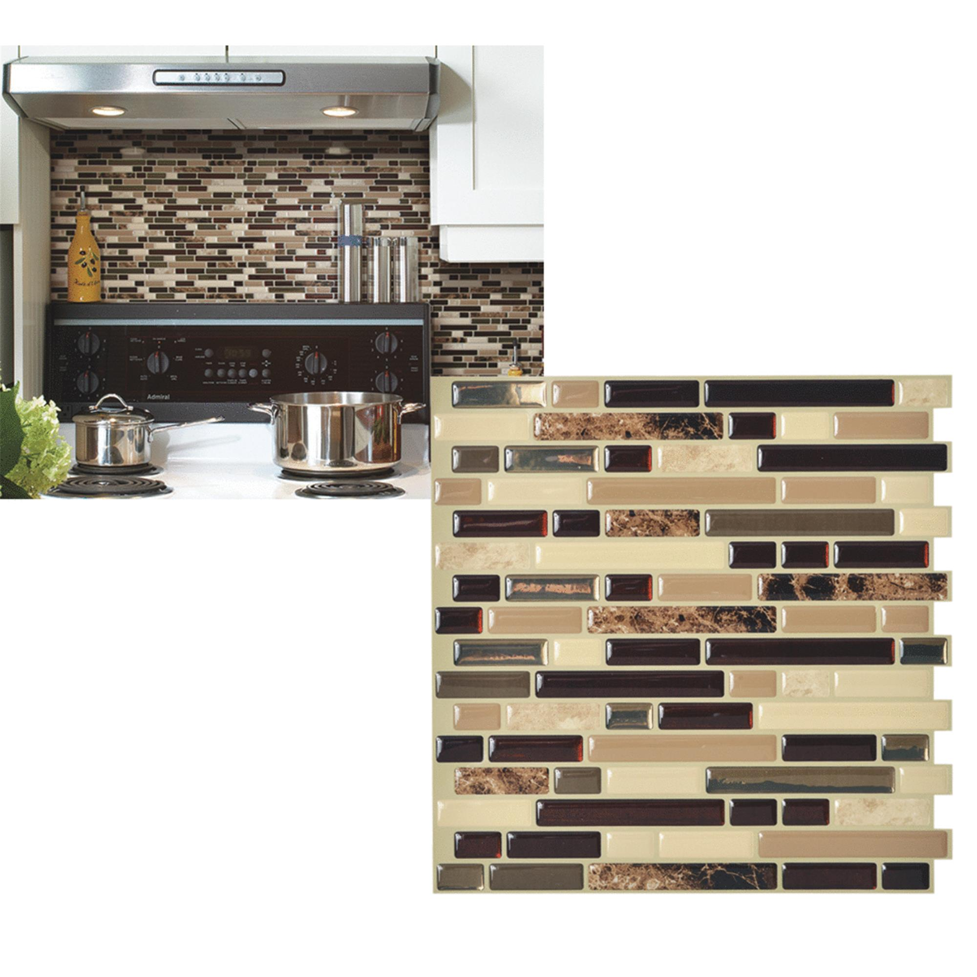 Smart Tiles Original Peel Stick Backsplash Wall Tile Walmartcom