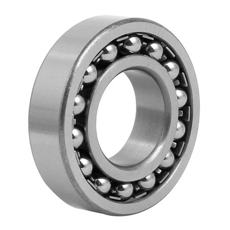 30mm Inner Dia 62mm OD 16mm Thickness Self Aligning Ball Bearing 1206