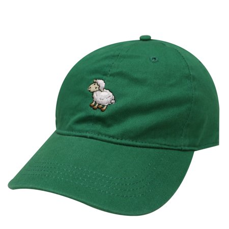 Little Green Sheep (City Hunter C104 Sheep Cotton Baseball Dad Hat 17 Colors (Kelly Green))