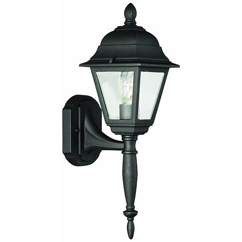 Thomas Lighting SL7367 Woodbrook 1 Light Outdoor Wall lantern in Black Finish by Thomas Lighting
