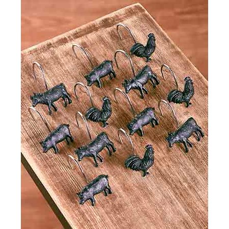 The Lakeside Collection Farm Life S/12 Shower Curtain Hooks