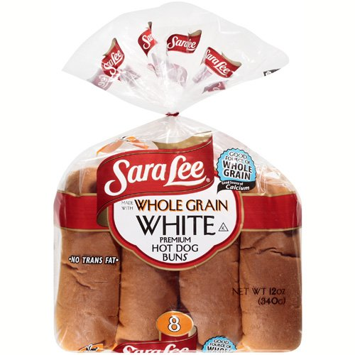 Sara Lee Whole Grain White Hot Dog Buns, 12 oz