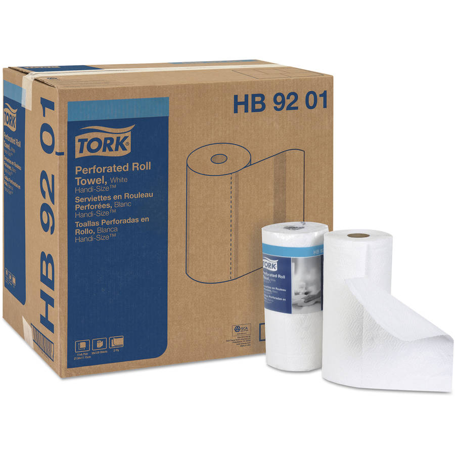 Tork Perforated Towel Roll, White, 120 count, (Pack of 30)
