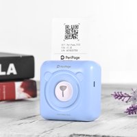 GOOJPRT PeriPage Mini Pocket Wireless BT Thermal Printer Picture Photo Label Memo Receipt Paper Printer with USB Cable Support for Android iOS Smartphone Windows