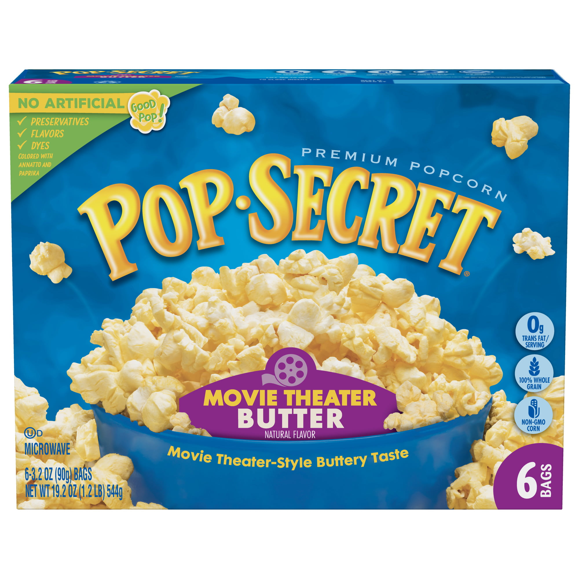 Pop Secret Movie Theater Butter Microwave Popcorn 3 2 Oz 6 Ct Walmart Com Walmart Com