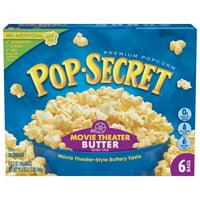 Pop Secret Movie Theater Butter Microwave Popcorn, 3.2 Oz, 6 Ct