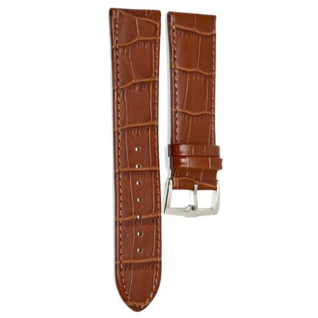 22MM LIGHT BROWN ALLIGATOR GRAIN LEATHER WATCH BAND STRAP FOR INVICTA