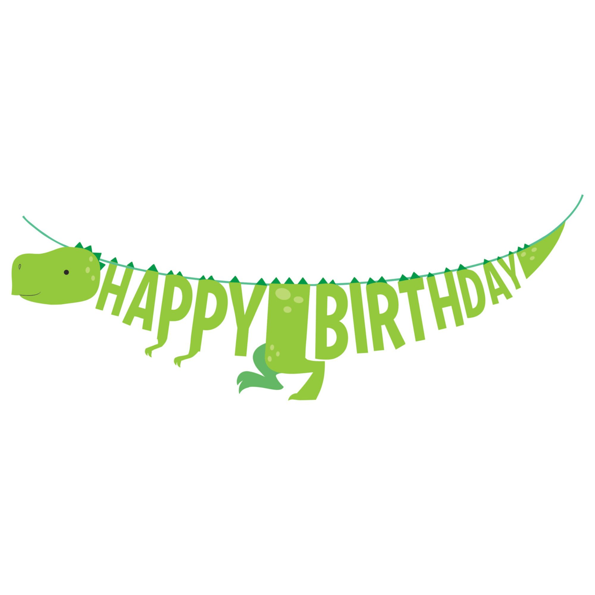 Green Dinosaur Happy Birthday banner Green Dino party decoration Green Jurassic Park birthday banner Green dino t-rex Green dinosaur Bunting