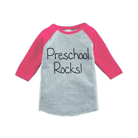 Custom Party Shop Girls Preschool Rocks School Raglan Tee - Medium (10-12) T-shirt](School Girl Top)