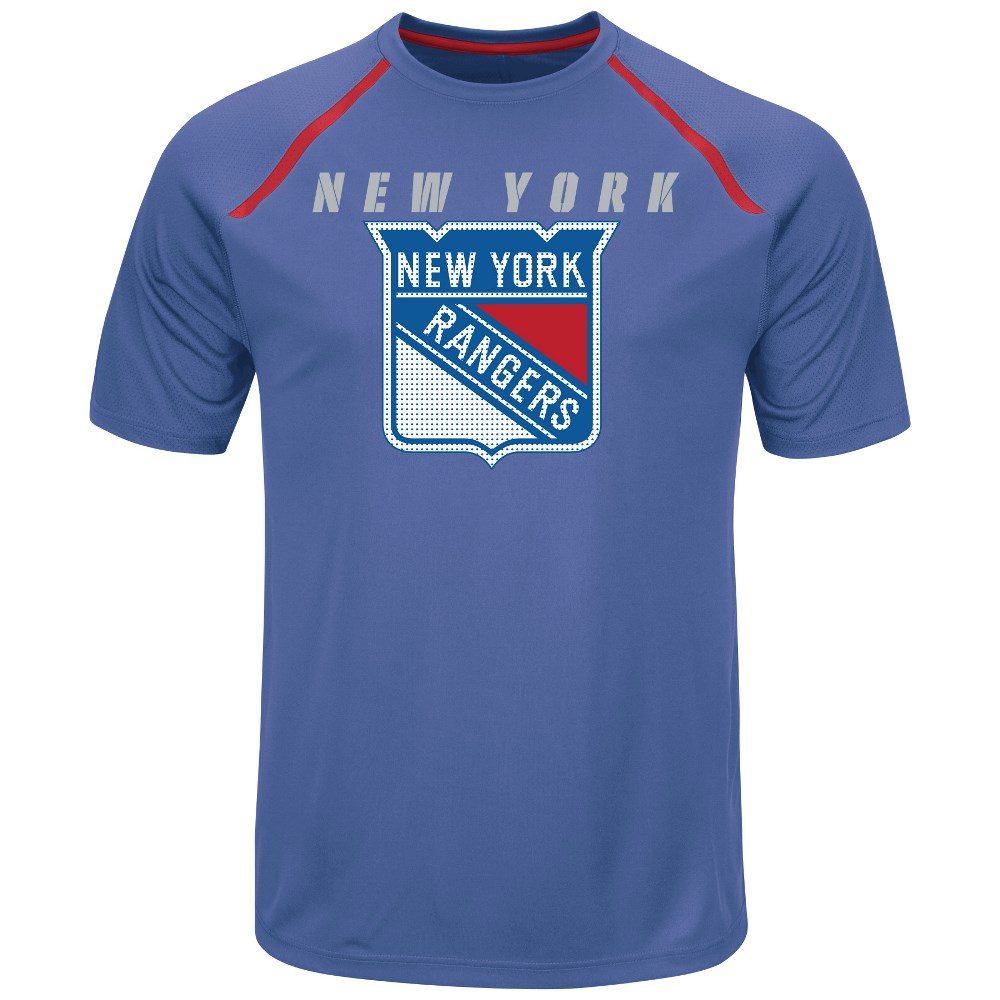 "New York Rangers Majestic NHL ""Toe Drag"" Men's Cool Base Shirt by Majestic"