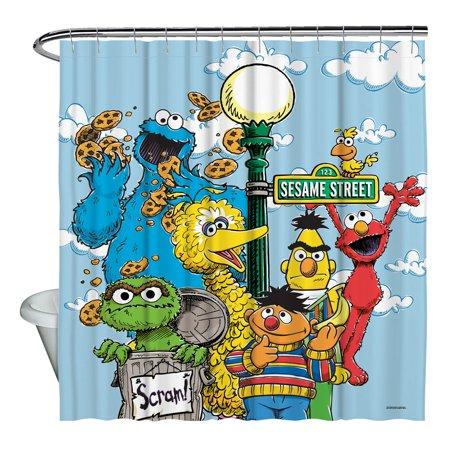 Sesame Street Retro Gang Shower Curtain
