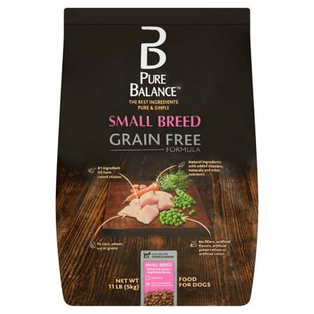 Pure Balance Grain-Free Small Breed Chicken & Garden Vegetables Dry Dog Food, 11