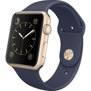 Watch Sport 42mm Gold Aluminum Case with Midnight Blue Sport Band (Certified Refurbished)??