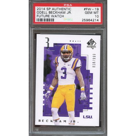 2014 Sp Authentic  Fw19 Odell Beckham Jr New York Giants Rookie Card Psa 10
