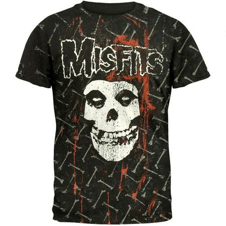 Misfits - Bones All-Over T-Shirt - Misfits Crimson Skeleton