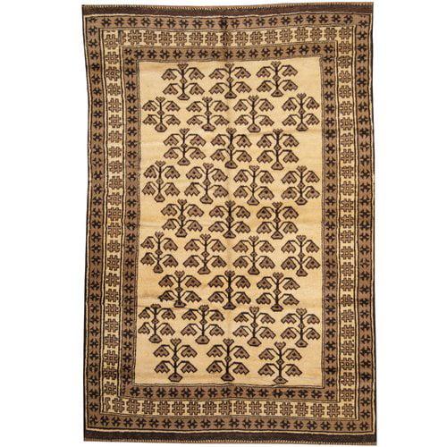 Herat Oriental Balouchi Hand-knotted Beige/Brown Area Rug