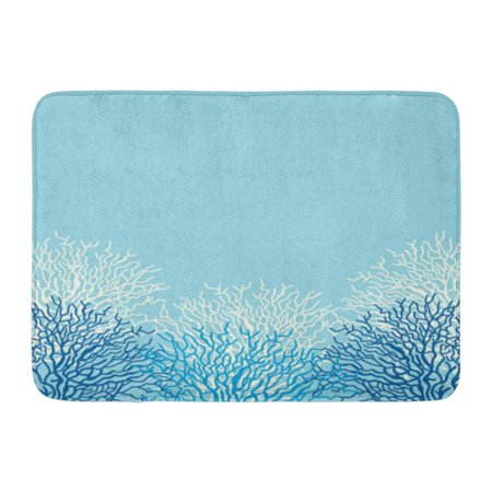 LADDKE Blue Ocean Sea Life Corals Pattern Reef Caribbean Border Sealife Doormat Floor Rug Bath Mat 23.6x15.7 inch ()