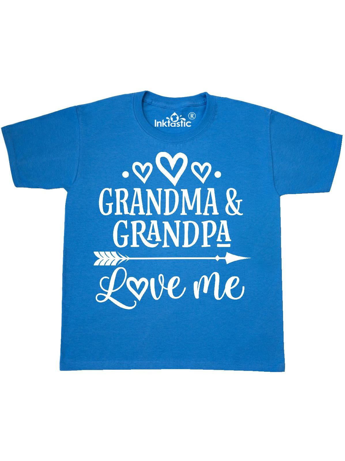 Grandma Grandpa Love Me Grandchild Youth T-Shirt