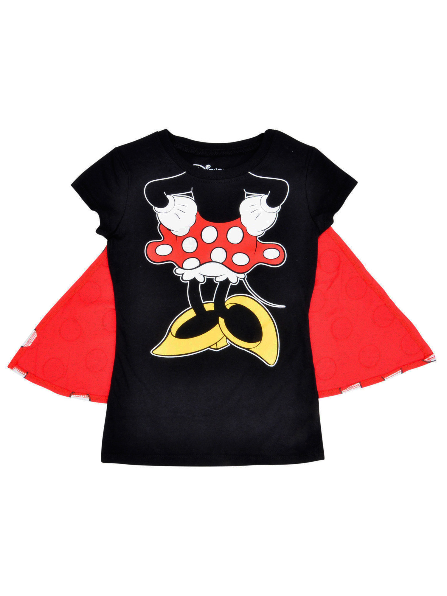 Girls Minnie Mouse Costume T-Shirt w/ Cape