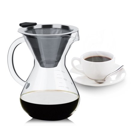Electric With Timer Coffee Maker - Tbest 400ml Glass Hand Drip Coffee Maker Filter Pot with Scale Office Home,Coffee Pot, Grass  Coffee Filter Pot