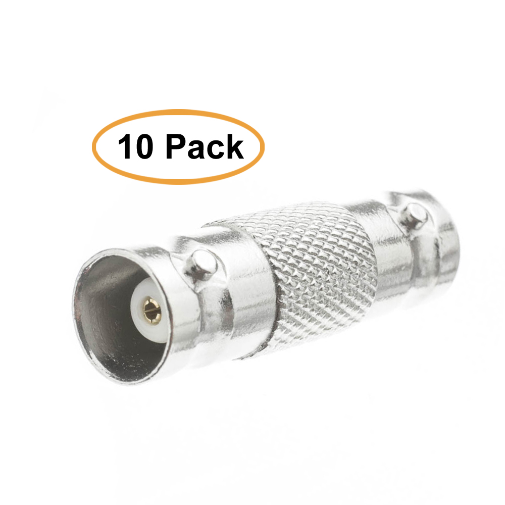 Barrel Connector Coupler BNC Female to Female 10 Packs BNC Connector Adapter for CCTV Camera Video