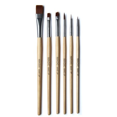 Halloween Makeup Bruises (6 Pcs Professional Makeup Brushes Set Wooden Handle Halloween Body Face Paint Makeup Brushes)