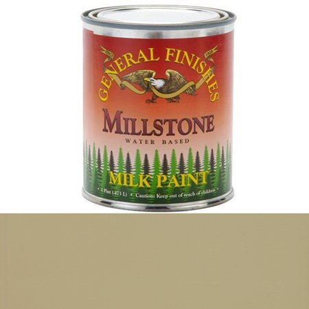PMI Milk Paint, 1 pint, Millstone, Milk paint can be used indoors or out and applied to furniture, crafts and cabinets By General Finishes From