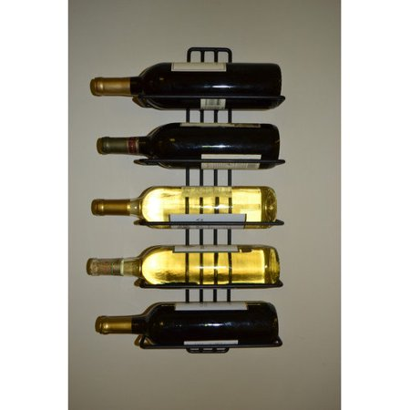J J Wire 5 Bottle Wall Mount Wine Rack