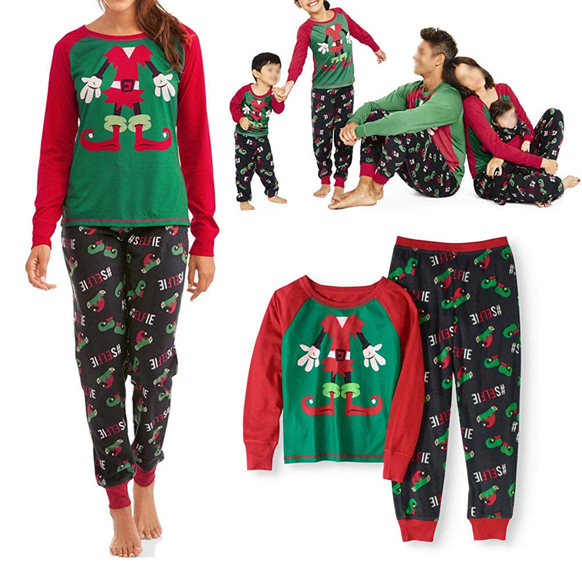 28d391b262 Cathery - Family Matching Christmas Pyjama Set Mom Dad Kids Xmas ...