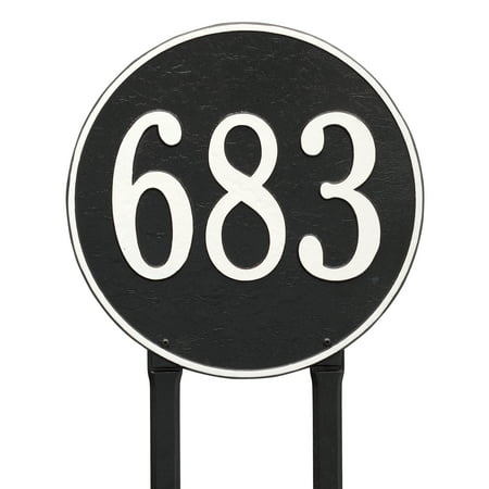 Personalized Whitehall Products 15 Inch Round Lawn Address Plaque in G