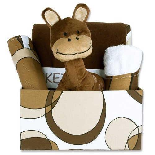 Trend Lab Bubbles 5 Piece Box Gift Set in Brown