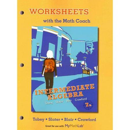worksheets with the math coach intermediate algebra. Black Bedroom Furniture Sets. Home Design Ideas