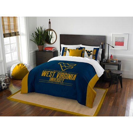 NCAA West Virginia Mountaineers u0022Modern Takeu0022 Bedding Comforter Set