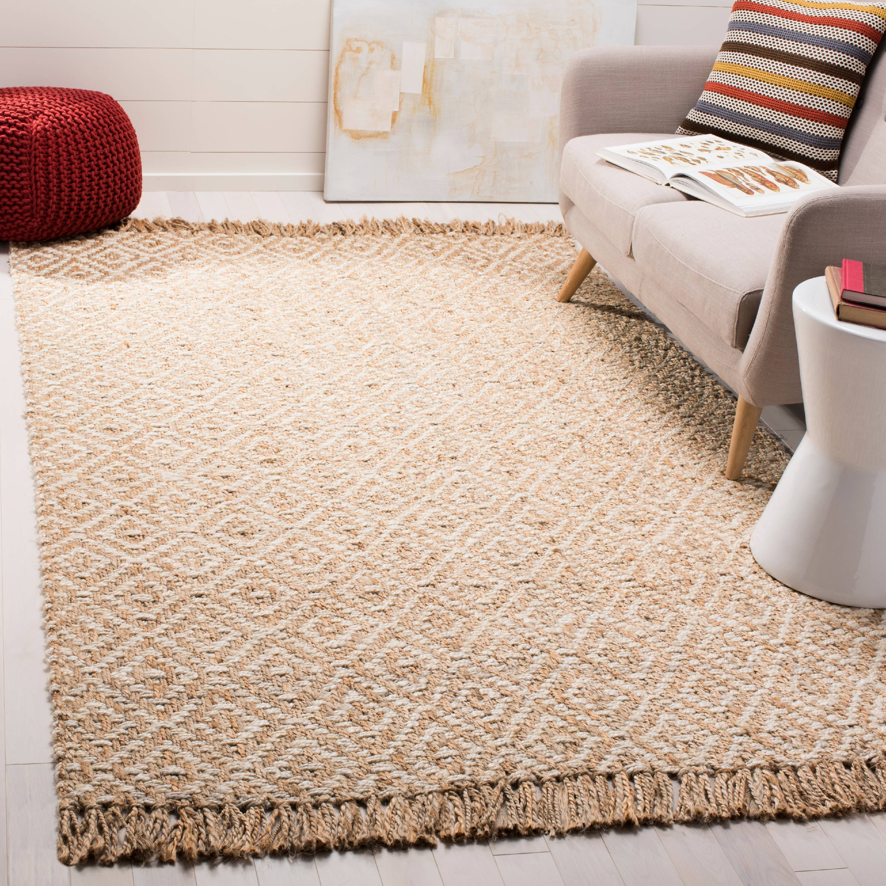 Safavieh Natural Fiber Thomas Geometric Braided Fringe Area Rug or Runner