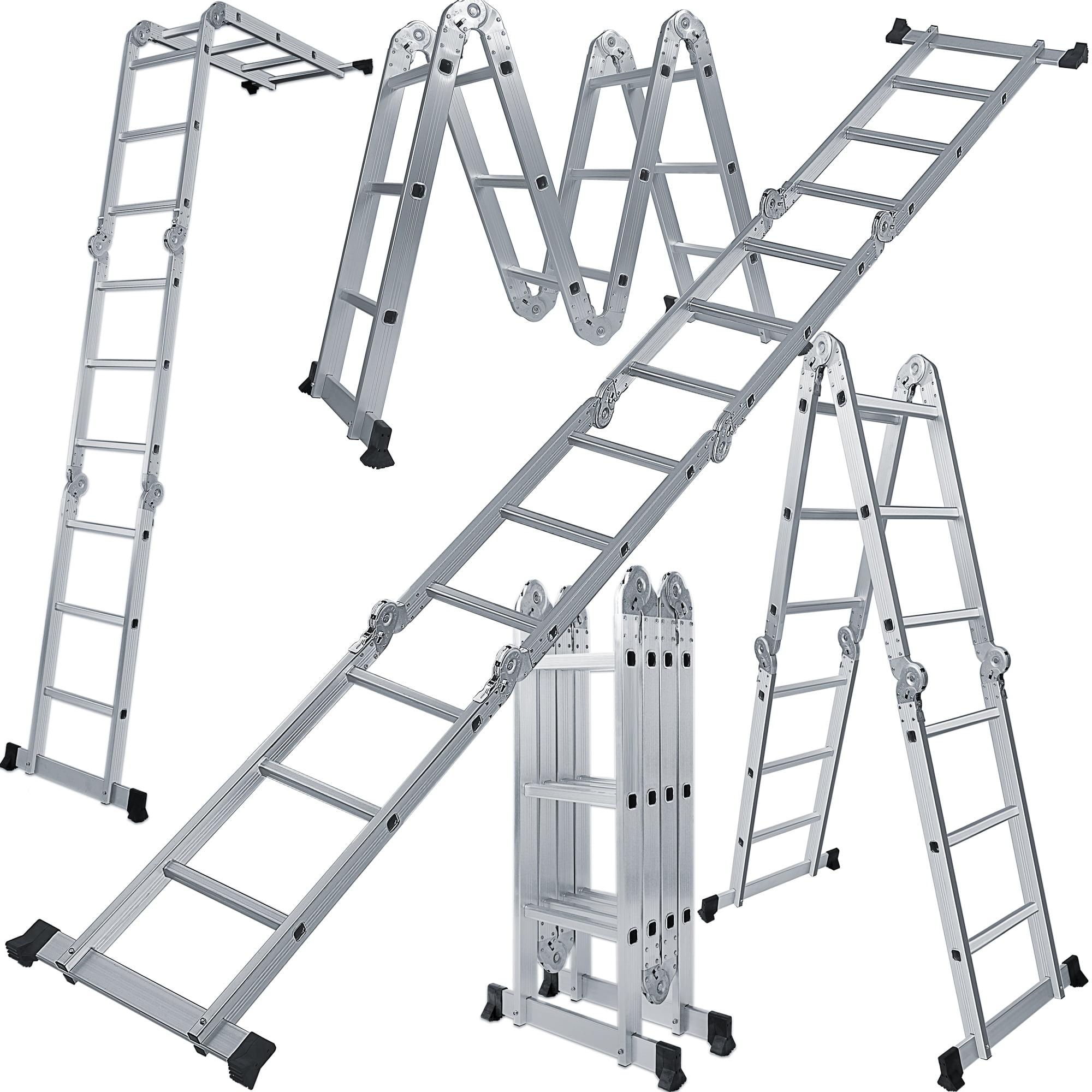 16.4ft 12.5ft Multi-Purpose Aluminum Telescopic Extension Ladder Outdoor Working