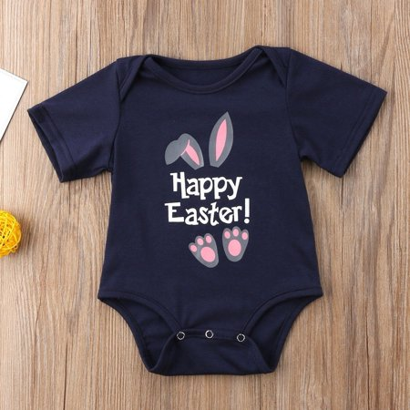 Easter Bunny Newborn Infant Baby Boys Girls Romper Bodysuit Jumpsuit Clothes Outfits