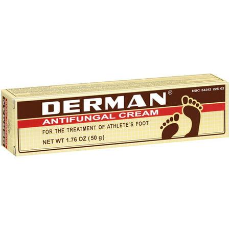 DERMAN crème antifongique pour le traitement de pied d'athlète, 1,76 oz