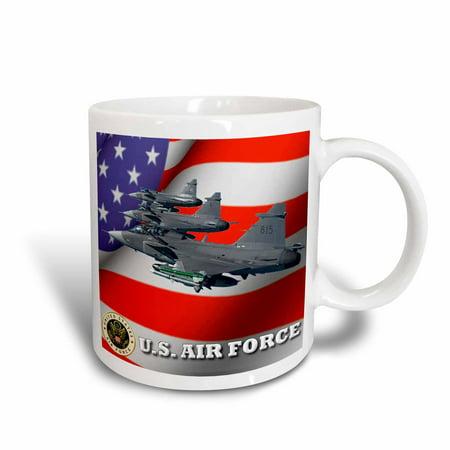 3dRose United States Air Force, Ceramic Mug, 11-ounce