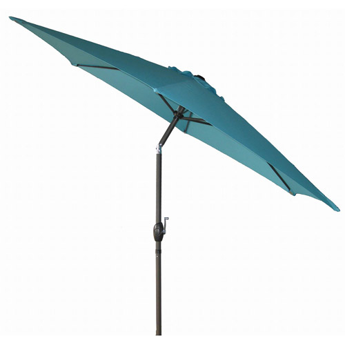 Mainstays 9u0027 Round Patio Umbrella, Turquoise Cove