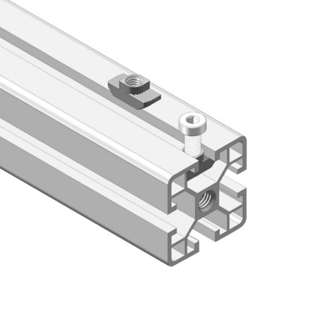 Sliding T Slot Nuts, M5 Female Thread for 4040 Series Aluminum Extrusion Profile 20 Pcs - image 4 de 5