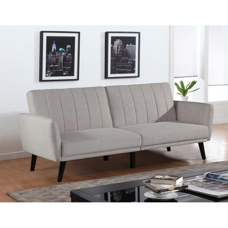 BroyerK  Mixed Cream Futon Sofa Bed Sleeper Couch (Cream Sofa Bed)