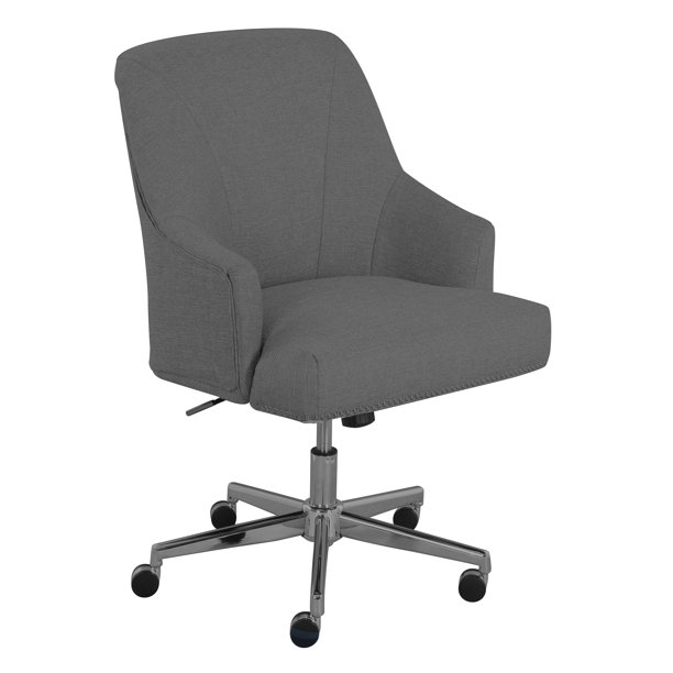 Serta Leighton Home Office Chair Medium Gray Walmart Com Walmart Com