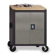 Edsal Silvervein 26.5 in. Mobile Storage Cabinet